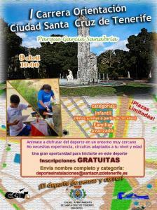 Cartel I carrera de Orientación Ciudad Santa Cruz de Tenerife